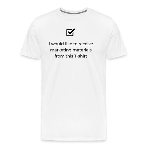 Marketing materials from this T-shirt - Men's Premium T-Shirt