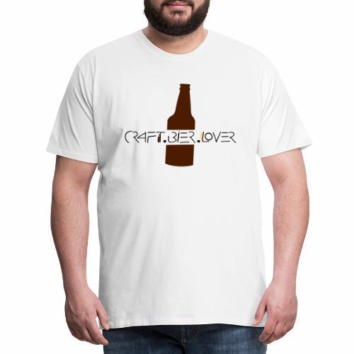 craftbierlover Bierflasche - Männer Premium T-Shirt