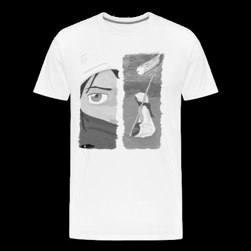 2panels #1 Ankunft (schwarz-weiß) - Männer Premium T-Shirt