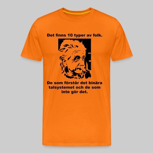 Det finns 10 Typer - Premium-T-shirt herr