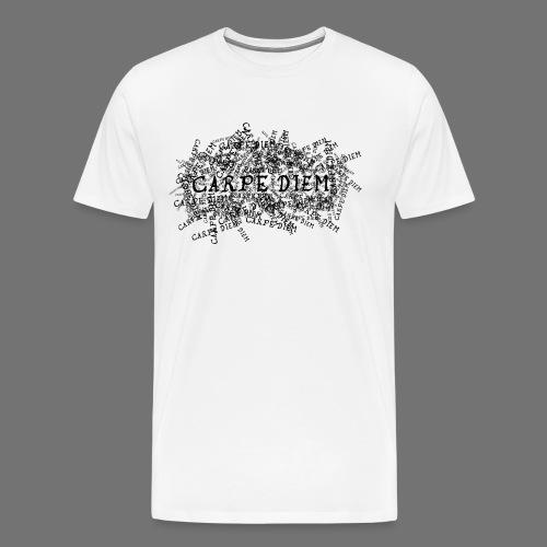carpe diem (musta) - Miesten premium t-paita