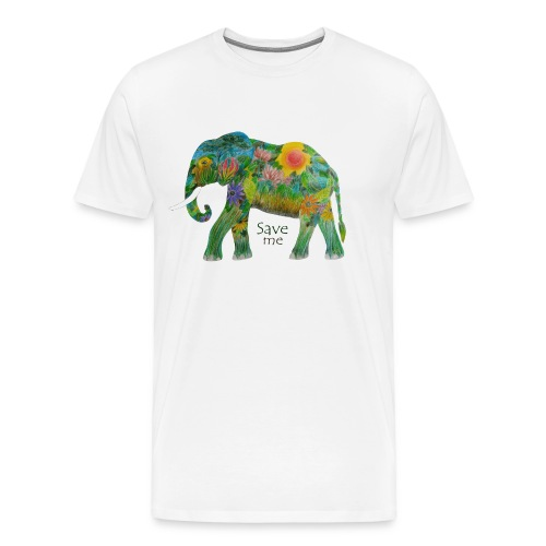 Save me - FlowerElephant - Männer Premium T-Shirt
