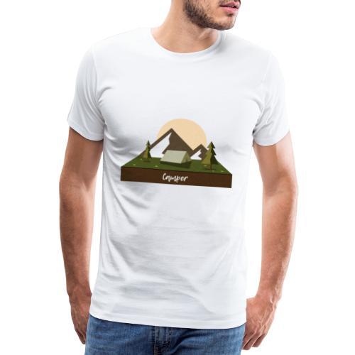 Camping, Zelten, Zelt, Urlaub - Männer Premium T-Shirt