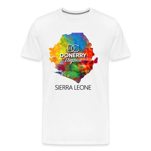 Sierra Leone Colurful Map - Men's Premium T-Shirt