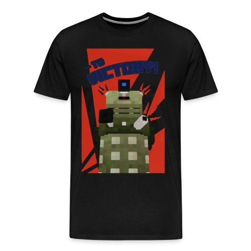 Dalek Mod - To Victory - Men's Premium T-Shirt