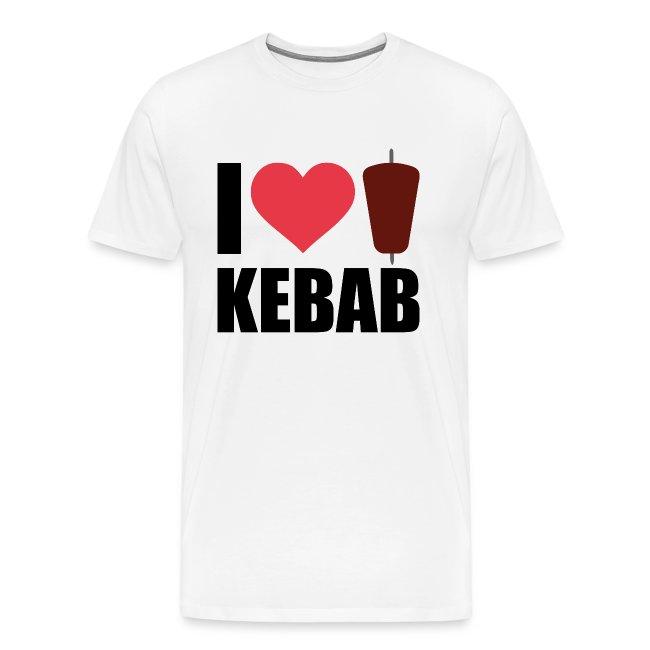 I love Kebab Herz Typografie