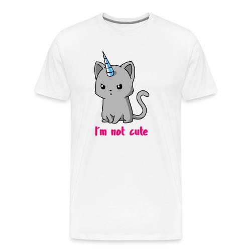 Einhorn Katze Ich bin nicht süß - Männer Premium T-Shirt