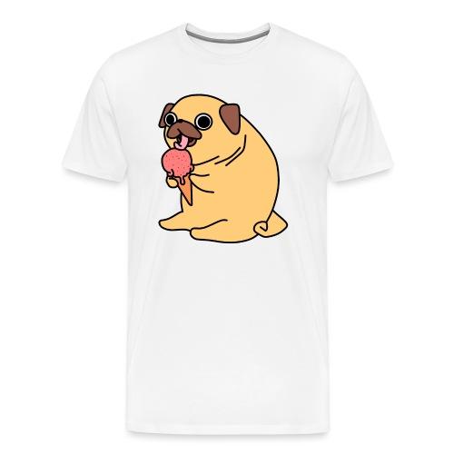 Eis essender Mops - Männer Premium T-Shirt