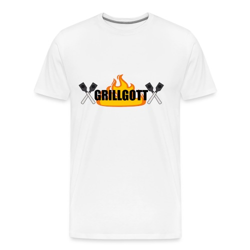 Grillgott Meister des Grillens - Männer Premium T-Shirt