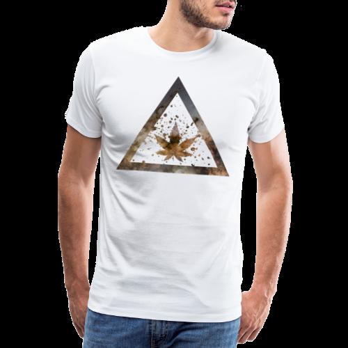 Galaxy Weed Marijuana Triangle with Splashes - Männer Premium T-Shirt