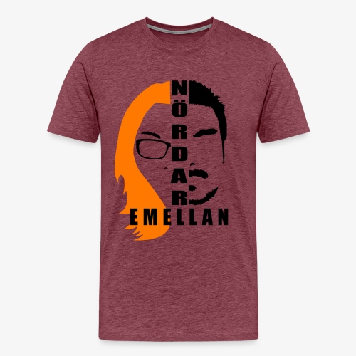 NördarEmellanLogo png - Premium-T-shirt herr