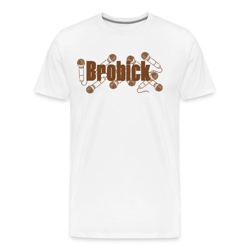 Brobick Schriftzug 2014 design braun - Männer Premium T-Shirt