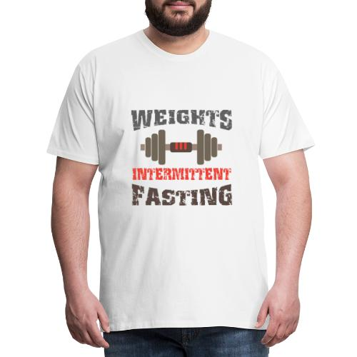 Weights Intermittent Fasting - interval fasting - Men's Premium T-Shirt