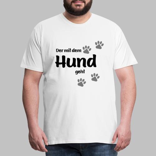 Der mit dem Hund geht - Colored Paw - Männer Premium T-Shirt