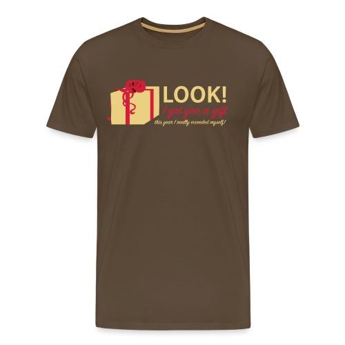 Täydellinen lahja - Miesten premium t-paita
