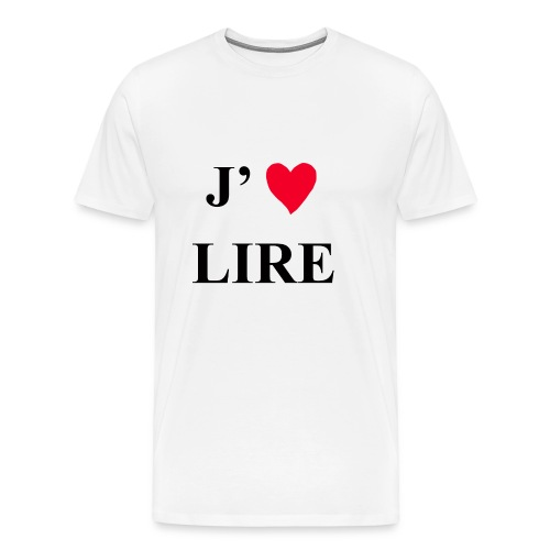 J'aime lire - T-shirt Premium Homme