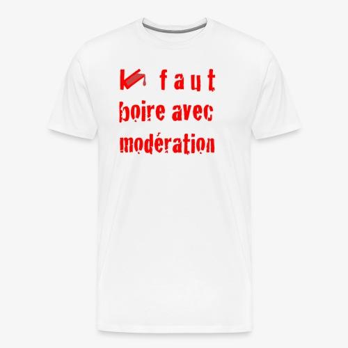 test t shirt FACE ROUGE - T-shirt Premium Homme