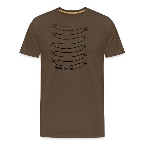 Wiener Illusion (schwarz auf weiß) - Männer Premium T-Shirt