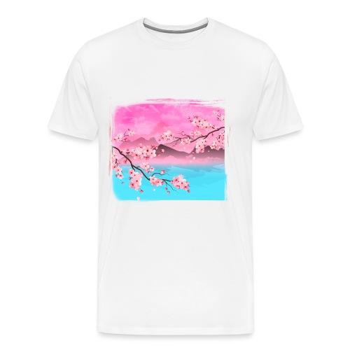 paisaje oriental - Camiseta premium hombre