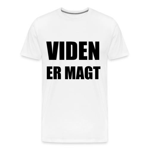 videnermagt sort - Herre premium T-shirt