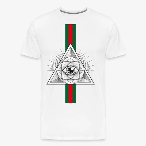 Occhio Piramide - Maglietta Premium da uomo