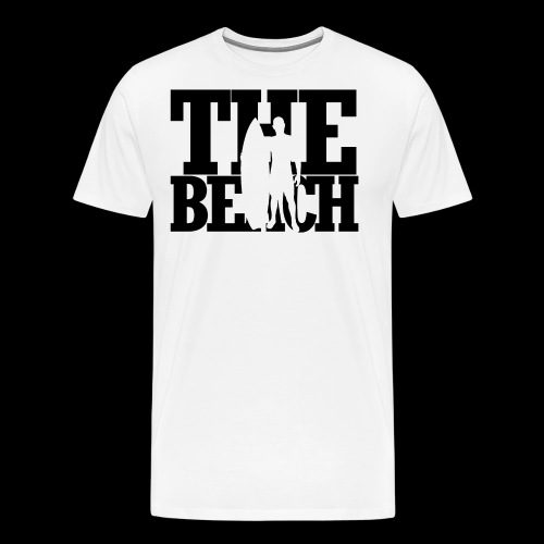 the beach mit surfer - Men's Premium T-Shirt