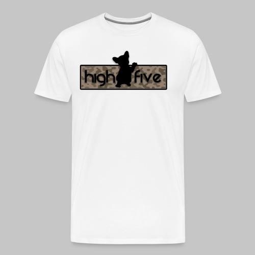 French Bully Camouflage braun - Männer Premium T-Shirt