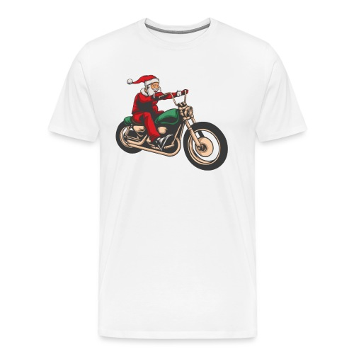 Cool Christmas Santa Motor Biker - Men's Premium T-Shirt