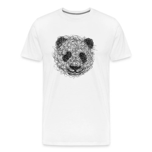 Panda Gribouillage - T-shirt Premium Homme