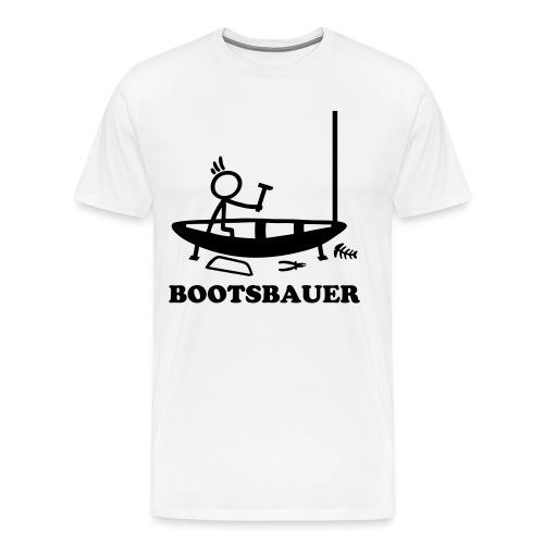Bootsbauer - Strichmännchen - Männer Premium T-Shirt