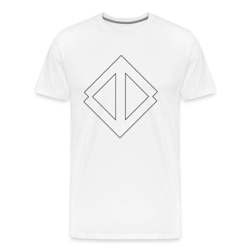 Big White Logo - Premium-T-shirt herr