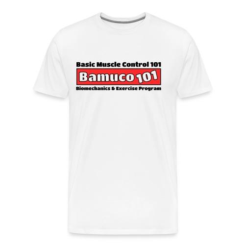Bamuco101Big Logo WhiteOnRed - Miesten premium t-paita