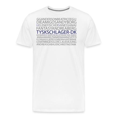 Schlagernavne - Herre premium T-shirt