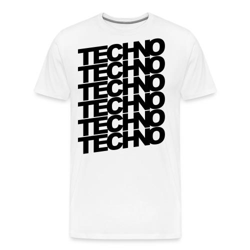 TECHNO TECHNO TECHNO Musik Goa Tanzen Geschenk - Männer Premium T-Shirt