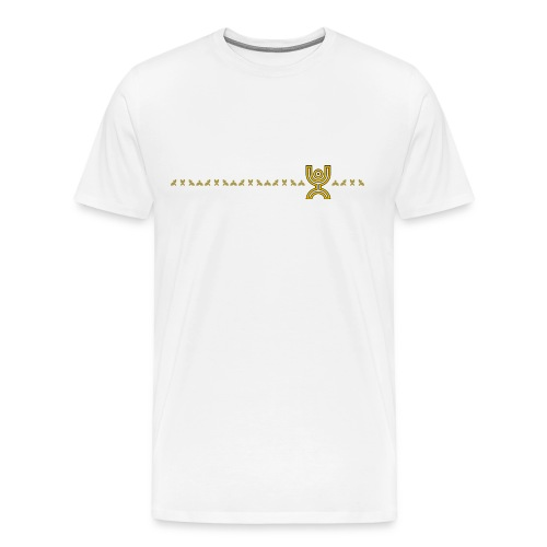 Monkey Line Yellow - Men's Premium T-Shirt