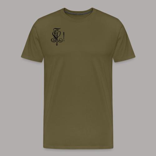 Zirkel, schwarz (vorne) Zirkel, schwarz (hinten) - Männer Premium T-Shirt