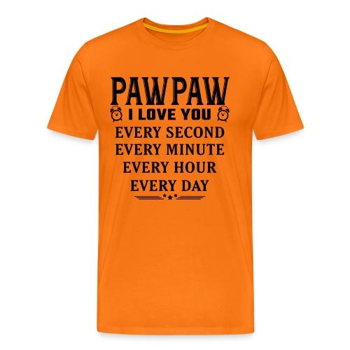 I Love You Pawpaw - Men's Premium T-Shirt