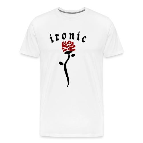 Ironic Rose - Herre premium T-shirt