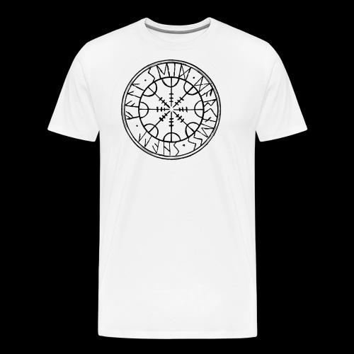 SEID-DARKNESS SHALL FALL- BLACK ON WHITE - Men's Premium T-Shirt