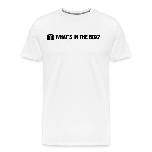 Whats in the Box - Mannen Premium T-shirt