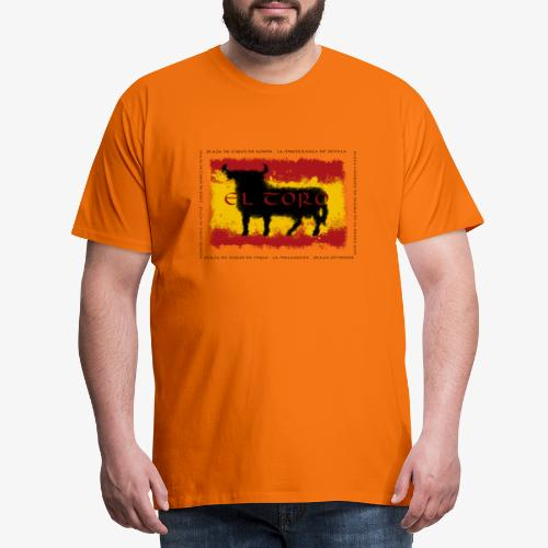Spain Flag with bull - Männer Premium T-Shirt