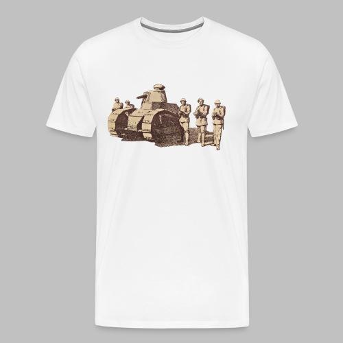 Czołg FT-17 i żołnierze polscy - Koszulka męska Premium