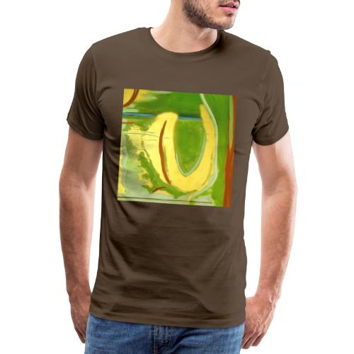 Abstract Green Gold Red - Men's Premium T-Shirt