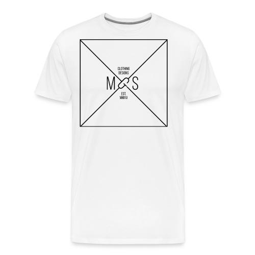MGS Logo BOX Design Thin png - Men's Premium T-Shirt