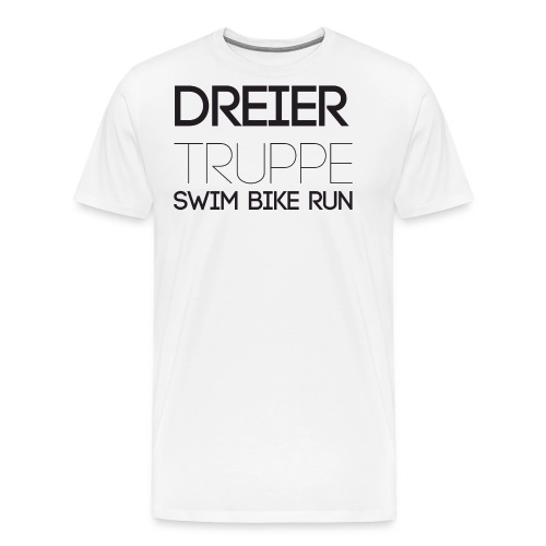 DREIER Truppe SWIM BIKE RUN - Männer Premium T-Shirt