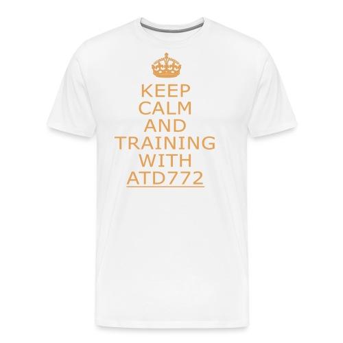 keep calm and Training with ATD772 - Maglietta Premium da uomo