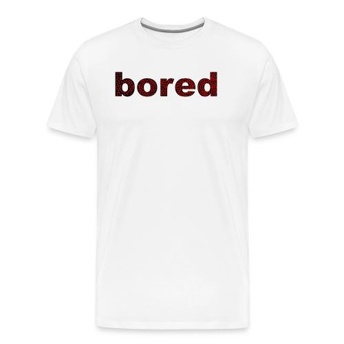 Bored Design rote Punkte auf Schwarz - Männer Premium T-Shirt