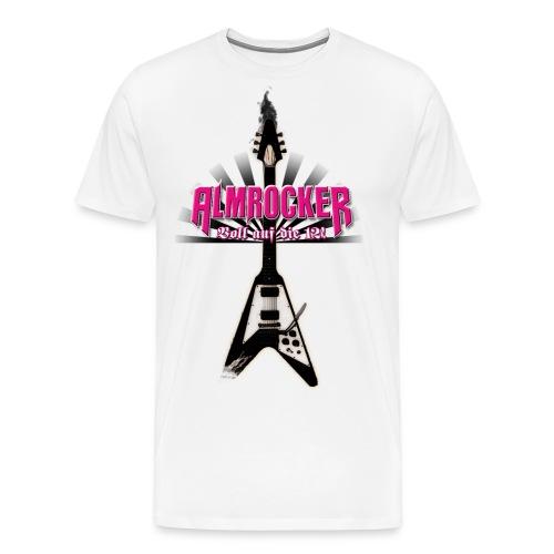 AlmRocker-Gitarre-schwarz - Männer Premium T-Shirt