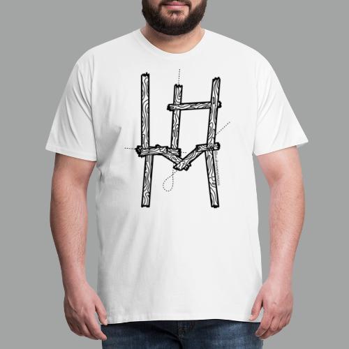 Wooden LHM Logo - Männer Premium T-Shirt