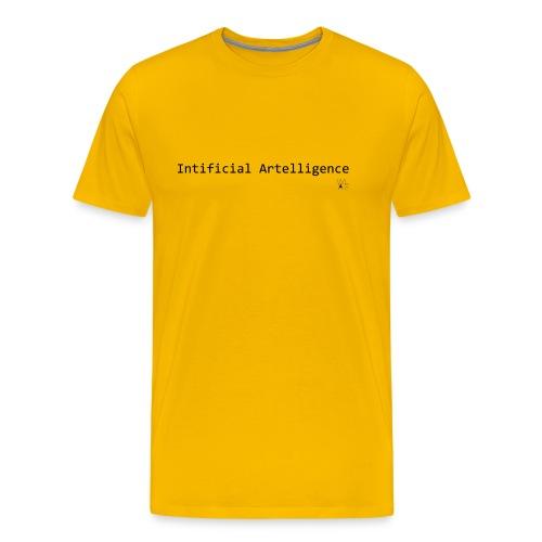 Intificial Artelligence Black png - Men's Premium T-Shirt